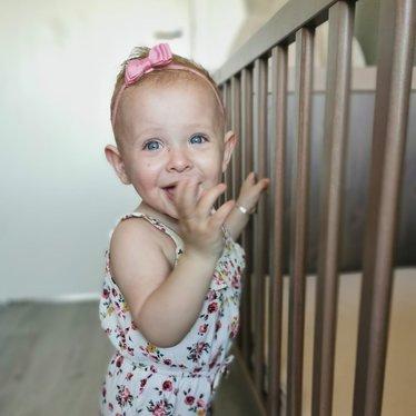 Your Little Miss Baby haarbandje met dubbele strik sweet nectar