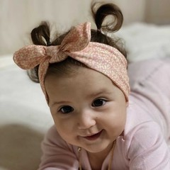 Your Little Miss Baby hair band with button animal