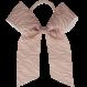 Your Little Miss Haarschleife mit elastischem rosa Zebra