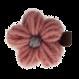 Your Little Miss Haarspeld met gebreide bloem pink