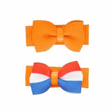 Your Little Miss Koningsdag baby haarspeldje oranje nederlandse vlag