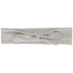 Your Little Miss Baby headband with button light gray