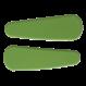 Your Little Miss Twee basic haarspeldjes mat groen