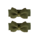 Your Little Miss Baby hair clips with moss green bow