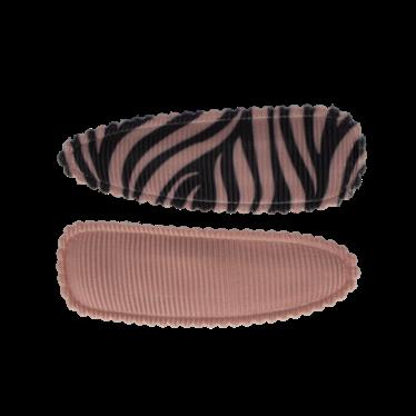 Your Little Miss Setje meisjes haarspeldjes pink/grey zebra