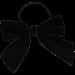 Your Little Miss Haarspeldje met strik large met elastiek black velvet