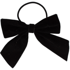 Your Little Miss Hair bow with elastic black velvet