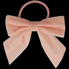 Your Little Miss Haarschleife mit elastischem, weichem, rosa Samt
