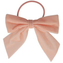 Your Little Miss Hair bow with elastic soft pink velvet