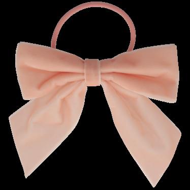 Your Little Miss Haarspeldje met strik large met elastiek soft pink velvet