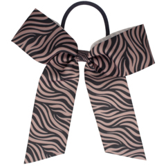Your Little Miss Hair bow with elastic pink / gray zebra