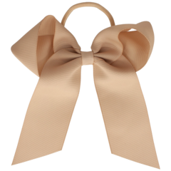Your Little Miss Hair bow with elastic tan