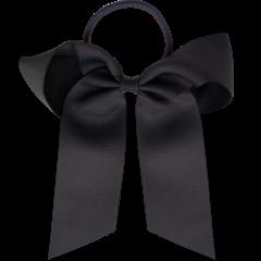 Your Little Miss Haarspeldje met strik large met elastiek dark grey