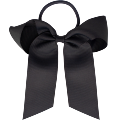 Your Little Miss Hair bow with elastic dark gray
