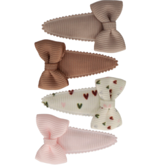 Your Little Miss Set of baby hair clips with love bow