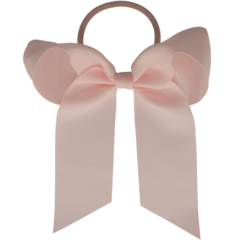 Your Little Miss Hair bow with elastic powder pink