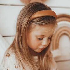 Your Little Miss Headband fudge satin