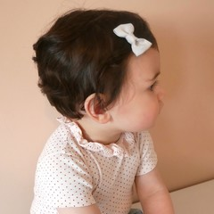 Your Little Miss Baby hair clip gray