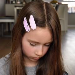 Your Little Miss Set of girl hair clips star heaven
