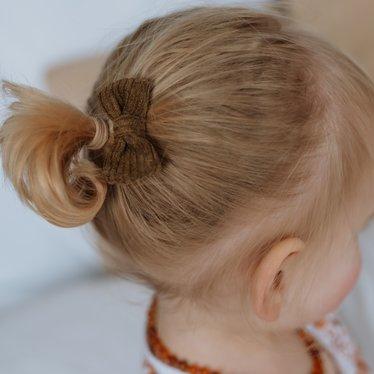 Your Little Miss Baby Haarspange dunkelgrüne Rippe