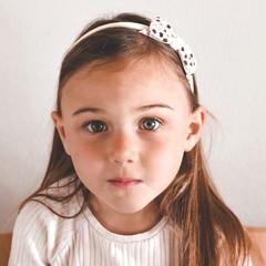 Your Little Miss Diadeem pink dots