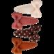 Your Little Miss Satz Baby-Haarspangen mit Chutney-Punkt-Bogen