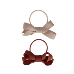 Your Little Miss Set of 2 small rubber bands with chutney bow