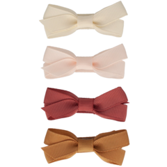 Your Little Miss Set of hair clips with pale gold bow