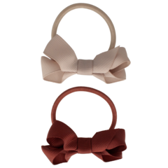 Your Little Miss Set of 2 rubber bands with bow chutney