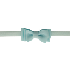 Your Little Miss Baby hair band with double bow mineral ice
