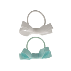 Your Little Miss Set of 2 small rubber bands with mineral ice bow