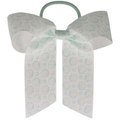 Your Little Miss Hair bow with elastic ocean shells
