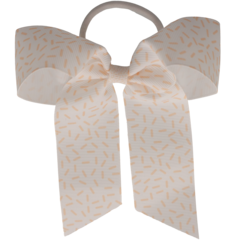 Your Little Miss Hair bow with elastic nude drops