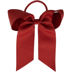 Your Little Miss Hair bow with elastic rests linen