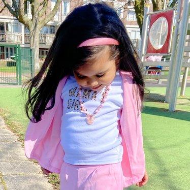 Your Little Miss Diadem antiker lila Satin