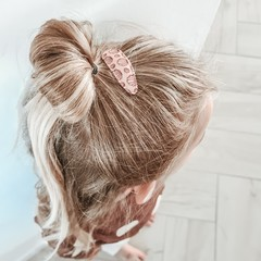 Your Little Miss Set of girls hair clips nude shells