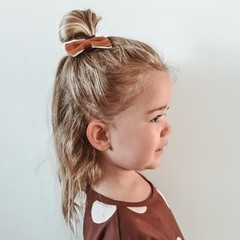 Your Little Miss Hair clip rust leather