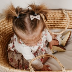 Your Little Miss Baby hair clip neutral check