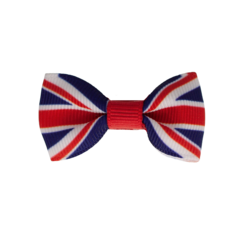Your Little Miss Baby hair clip English flag