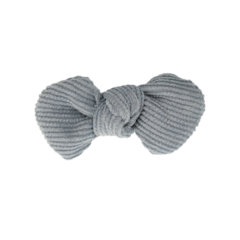 Your Little Miss Hair clip with bow light blue rib