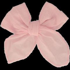 Your Little Miss Haarspeldje met strik large light pink linnen
