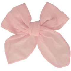 Your Little Miss Hair clip with bow large light pink linen