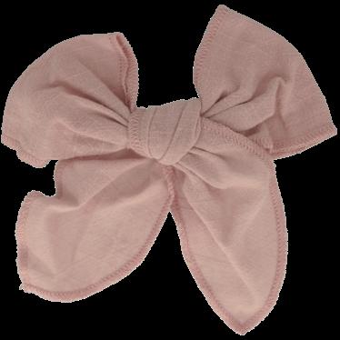 Your Little Miss Haarspange mit Schleife groß viktorianisch rosa Leinen