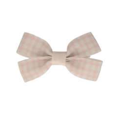 Your Little Miss Hair clip with bow medium nude check