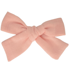 Your Little Miss Hair clip with bow medium light pink linen