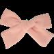 Your Little Miss Haarspange mit Schleife mittelhellrosa Leinen