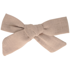 Your Little Miss Hair clip with bow medium victorian rose linen