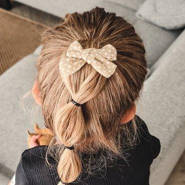 Your Little Miss Haarspange mit Schleife mittlere Sandpunkte