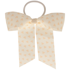 Your Little Miss Hair bow with elastic nude hearts