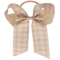 Your Little Miss Hair bow with elastic nude check